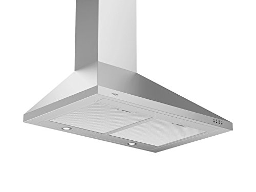Ancona WPP430 Wall-Mounted Classic Pyramid Style Convertible Range Hood, 30-Inch, Stainless Steel (Above The Microwave Stove)