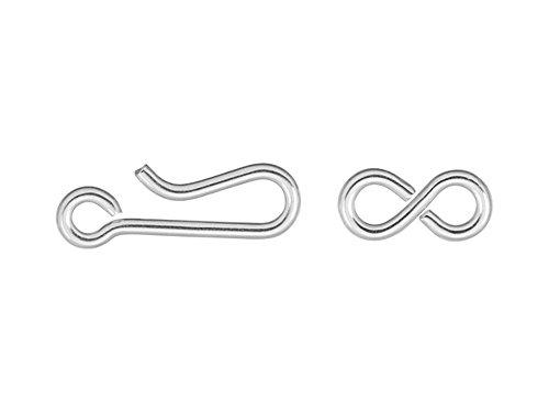 (10 Qty Hook & Eye, Sterling Silver by JensFindings)