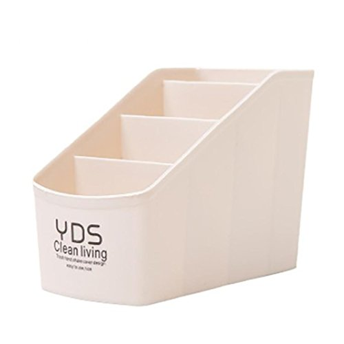 YJYdada Plastic Organizer Storage Box For Tie Bra Socks Drawer Cosmetic (Beige)