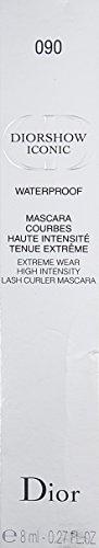 Christian Dior Diorshow Iconic Waterproof Mascara — Extreme Wear High Intensity Lash Curler — 090 Extreme Black 0.27 oz