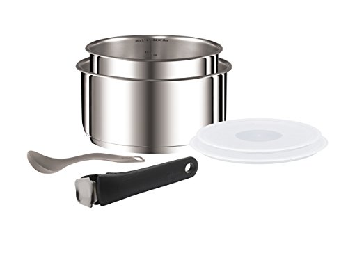 Tefal Ingenio Saucepan Set, Stainless Steel, 6-Piece