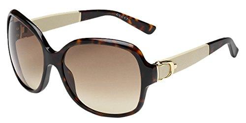 Gucci Women's GG 3638/S Havana Brown Gradient Oversized Stirrup Sunglasses