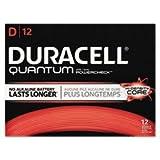 Duracell Quantum Alkaline Batteries with Duralock Power Preserve Technology, D, 72/Pk