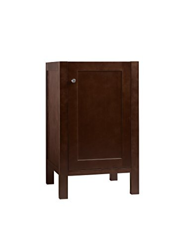 (RONBOW Essentials Cami 18 Inch Bathroom Vanity Cabinet Base in Dark Cherry Finish, with Soft Close Wood Door and Adjustable Shelf Inside 036918-3-H01)