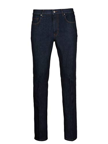 Z Zegna Men's Vs720zz505b09 Blue Cotton Jeans, used for sale  Delivered anywhere in USA