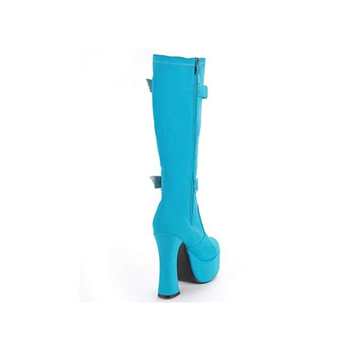 15 Cm Di Tacco Che Cravatta Con Spessi E Corti Stivali Modello Fase Scarpe 37 cielo Blu
