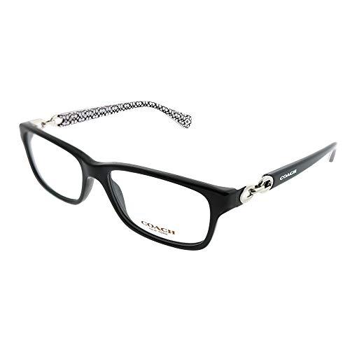 Coach Women's HC6052 Eyeglasses Black/Black White Sig C ()