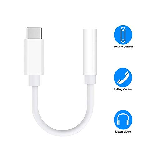 USB C Headphone Jack Adapter. Type C to 3.5mm Female Aux Audio Cable for Google Pixel 2 3 XL Samsung Essential Huawei Moto OnePlus HTC Xiaomi etc.