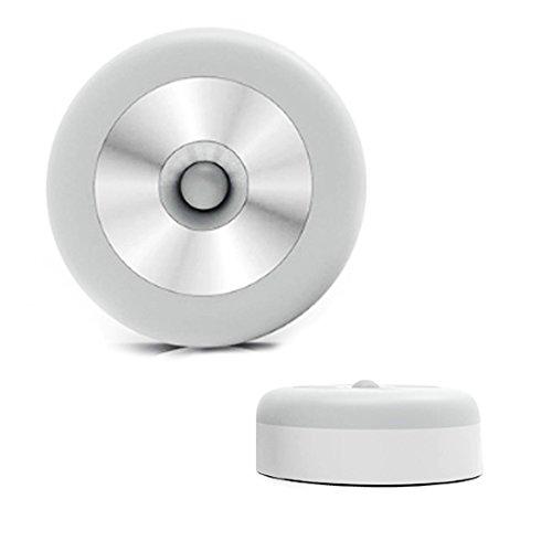 HAHOME Smart Sensor Night Light, Cordless Battery-Powered Body Motion Sensor Light,Stick Anywhere Light, Closet Lights, Stair Lights, Safe Lights