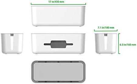 Organizador de escritorio de plástico duro, caja de almacenamiento ...