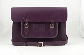 Oxford Bag Company's Classic Hand Made Leather Satchel 15 inch ...