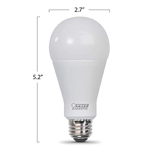 Feit Electric OM200/850/LED 200W Equivalent 25 Watt 3050 High Lumen Non-Dimmable A21 Omni LED 5K, 5000K Daylight