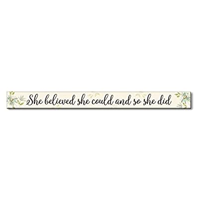 She Believed She Could Multicolor Wooden Sign