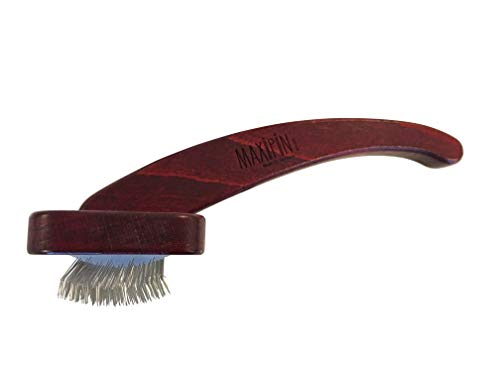 Mars Professional Dematting Undecoat Slicker Grooming Dog Brush with Woden Handle, Made in Germany, 7