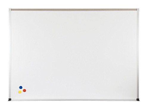 Balt Porcelain Steel Magnetic Bulletin Markerboard ABC Trim With Map Rail 4'H x 10'W electronic consumers by Brandz