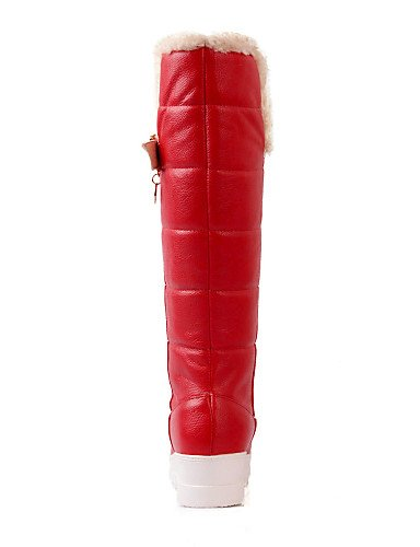 Semicuero Casual us8 Cn39 us6 Moda La Eu39 Zapatos Red Punta A Nieve Xzz Eu36 De Red Uk6 Plataforma Cn36 Redonda Mujer Vestido Botas Uk4 4RvOZ7w