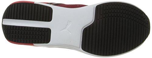 Mens Puma F116 Pelle Tessile Sf Fashion Sneaker Rosso Corsa / Puma Bianco