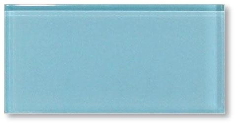 10 Square Feet - Infinity Blue 3x6 Glass Subway Tiles (Grout Line Size For 3x6 Subway Tile)