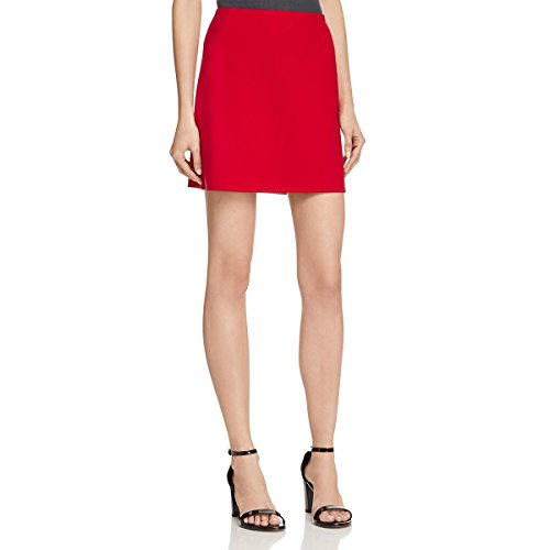 Theory Womens Irenah Saxton Virgin Wool Above Knee A-Line Skirt Red 8