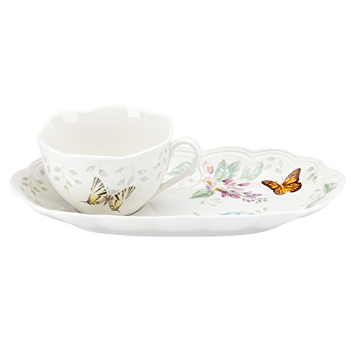 Lenox Butterfly Meadow Soup & Sandwich 2 piece set