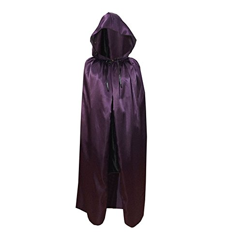 Smartcoco Halloween Sorcerer Grim Reaper Cosplay Hooded Sleeveless Cloak Adult Halloween Party Costumes Capes(S-XL)
