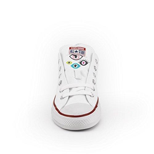 Converse Personalizzate All Star Bassa - scarpe artigianali - Pop Eyes Multicolor