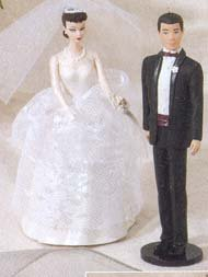 1997 Wedding Day Barbie and Ken Hallmark Ornament ()