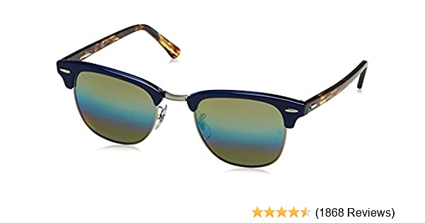 Amazon.com  Ray-Ban RB3016 Classic Clubmaster Sunglasses  Clothing 54068bdfdcc
