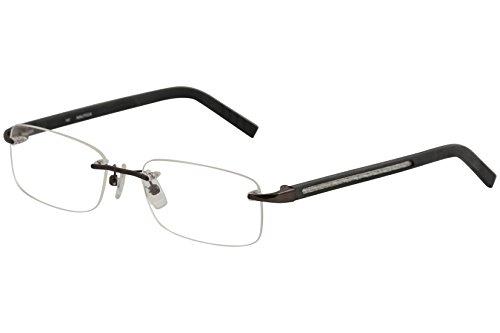 (Nautica Eyeglasses N6369 N/6369 710 Shiny Black Gunmetal Optical Frame 54mm)