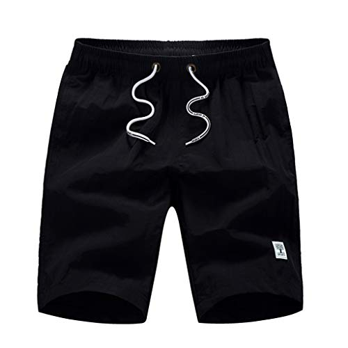 Suma-ma Men's Casual Solid Quick Dry Beach Pants Surfing Swimming Loose Shorts With Pocket