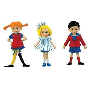 Micki Pippi Tommy and Annika Figures