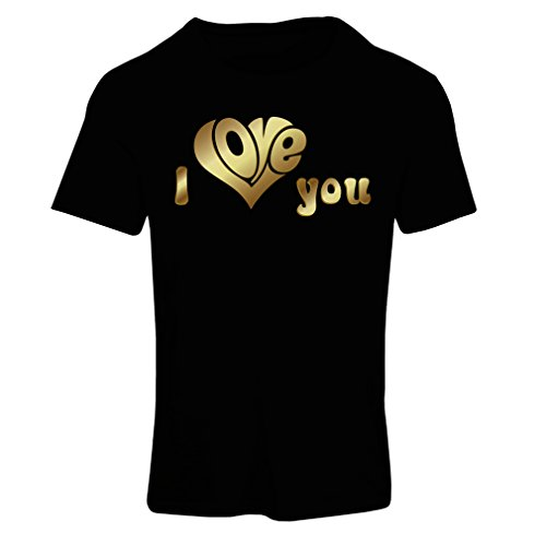 """Camiseta mujer """"Te quiero�?comillas,regalo DÍA DE SAN VALENTÍN Idées-cadeaux Negro Multicolor"""