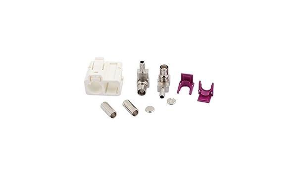 Amazon.com: eDealMax FAKRA-B Bianco 2-femmina connettore 0-6GHz adattatore RF per RG174 cavo: Electronics