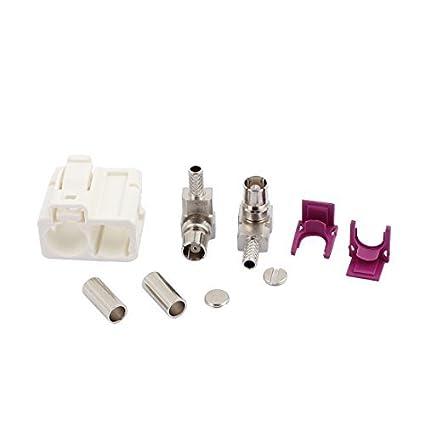 eDealMax Adaptador FAKRA-B Blanco 2-conector hembra 0-6GHz RF Para Cable