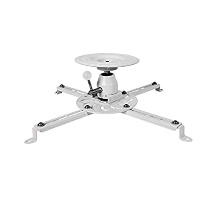 Globaltone 2519 Ceiling Projector Mount White Super Strong Max 55 lbs at 135mm (5.3'') from Ceiling Pro-Merit CA