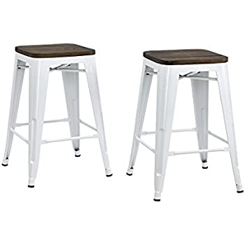 Amazon Com Dhp Fusion Metal Backless 24 Quot Counter Stool