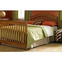 Full Size Conversion Kit Bed Rails for Lajobi Europa Baby Palisades Crib - Walnut