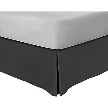 Amazoncom Queen Bedskirt Queen Size Dark Grey 100 Extra Long