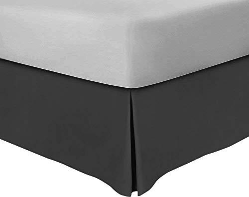 Canvas e King Bedskirt 8 inch Drop Tailored Poplin 1 pc Split Corner Bedskirt 600 TC 100% Natural Cotton Soft & Wrinkle Free Bedskirt (King 76