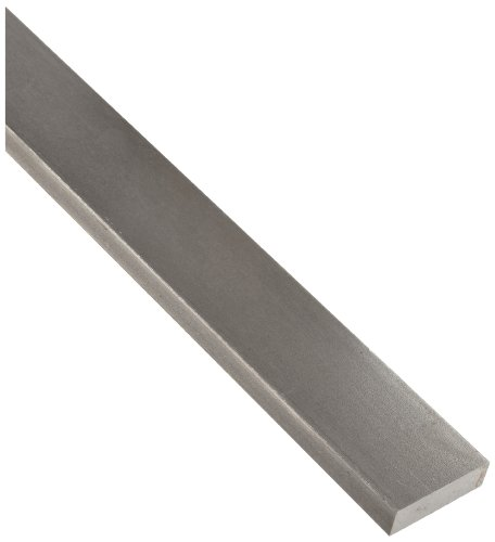 "1018 Carbon Steel Rectangular Bar, Unpolished (Mill) Finish, 1/2"" Thickness, 1/4"" Width, 72"" Length"