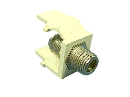 Leviton Acenti Quartz Quickport F-Type Coaxial Cable Jack 75-Ohm ()