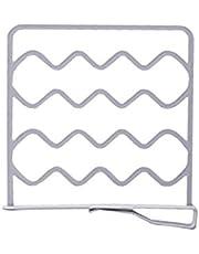 Surrui 4PCS Shelf Dividers Closet Wire Shelf Dividers Clothes Storage Separator Organizer Grey