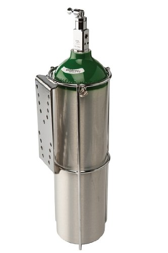 Compact Oxygen Tank Holder for Flat Surface Mounting D or E size Cylinder