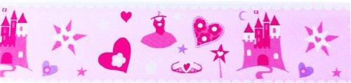 Princess Pink Castle Wall Border