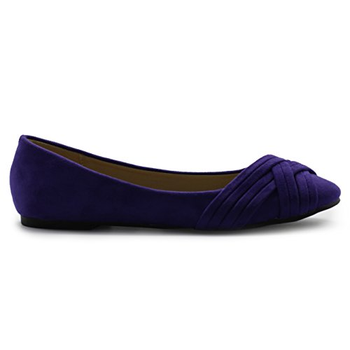 Ballet Comfort Shoe Cute Women's Casual Ollio Flat Purple OqF6w1