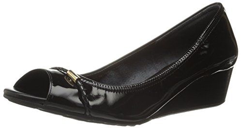 Cole Haan Womens Tali OT det 40 Wedge Pump Black Patent