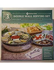 Member's Mark Double-Walled 3-Piece Hammered Chip and Dip Set, Steel