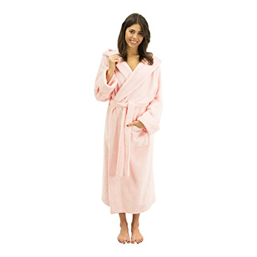 Comfy Robes Women's Bamboo Hooded Robe, S/M Rose Pink ()