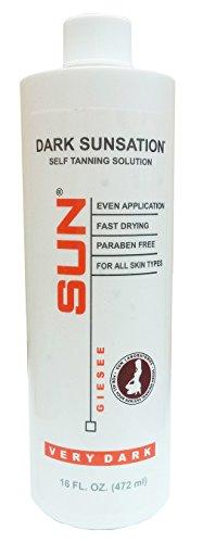 Dark Sunsation (Very dark) Self Tanner | Sunless Self Tanning Liquid Solution for Professional Salon Airbrush Best | Sunless Self Tanning Liquid Spray Tan Solution (Sunless Airbrush)
