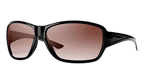Smith Oversized Sunglasses - Smith Optics Women's Pace Sunglasses, Black Frame, Sienna Gradient Carbonic TLT Lenses